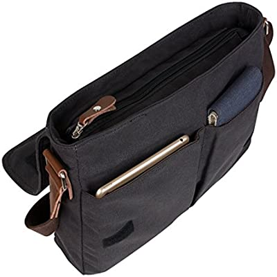 d0898e7dc2 ... Losmile Canvas Messenger Bag Shoulder Bag Vintage Crossbody Laptop Bag  Satchel Bag School Bag Work Bag ...
