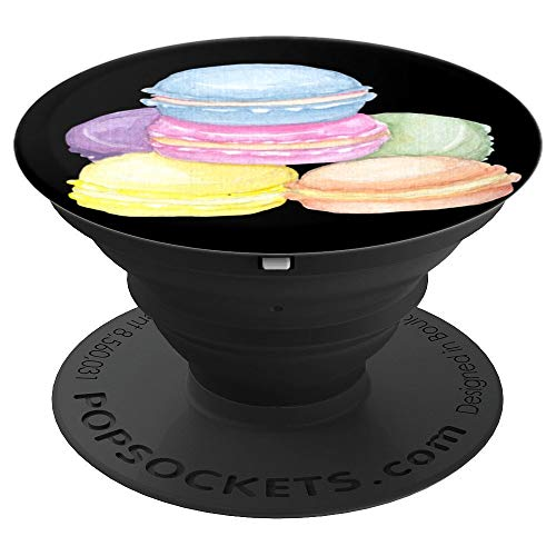 French Macaron Cookie Biscuit Dessert Europe Macaroon Gifts - PopSockets Grip and Stand for Phones and Tablets