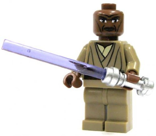 LEGO Star Wars Clone Wars LOOSE Mini Figure Mace Windu with Silver Lightsaber