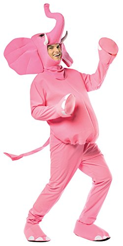 UHC Unisex Pink Elephant Mascot Theme Party Funny Adult Halloween Costume, OS