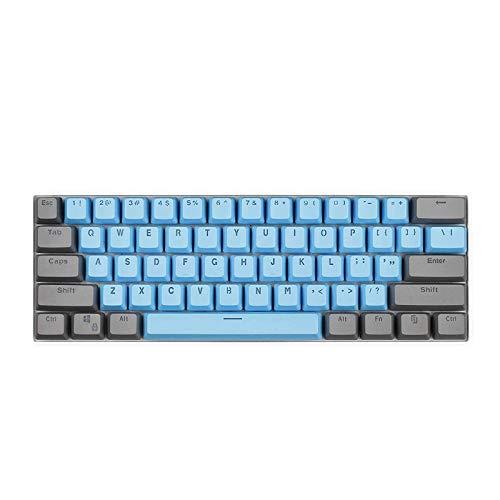 CORN 61 Key Layout OEM Profile PBT Thick Keycaps for 60% Mechanical Keyboard for RK61,GANSS ALT61,IKBC Poker,Anne PRO,GH60,iqunix f60 (Smoky Blue)