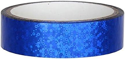 Glitter Decoraci/ón cinta adhesiva 25/mm x 30/m para Hula Hoop Azul