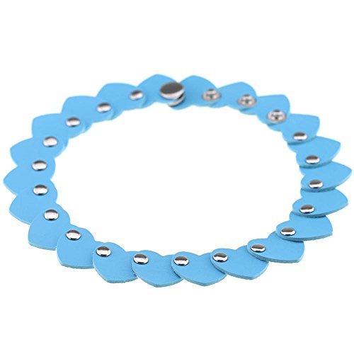 365Cor Fashion jewelry simple punk Retro PU leather heart cl