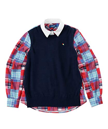 アーノルドパーマー ゴルフウェア 長袖シャツ レディース 重ね着風長袖シャツ AP220402H03 プリントチェック L