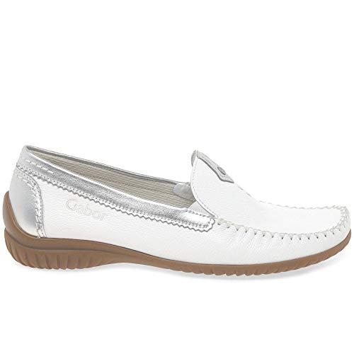 Comfort Zapatos 26 White Gabor 090 Para Cuero silver Mujer Shoes 31 De W5XXqRv