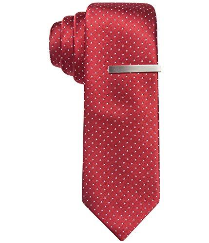 Alfani Mens Pindot Work Wear Neck Tie Red -