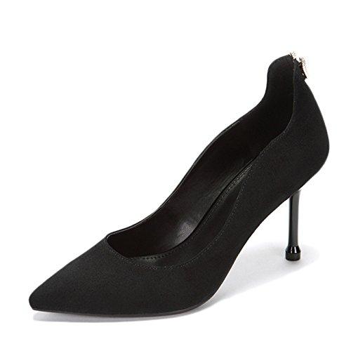 Mujer Nocturno Club De De EU snfgoij De Zapatos Commuting 34 Sexy Negro De UK Elegante Trabajo Salón De Fiesta Alto Zapatos Black De Moda WeddingDaphne Tacón 2 Zapatos 9cm n4n1vBW