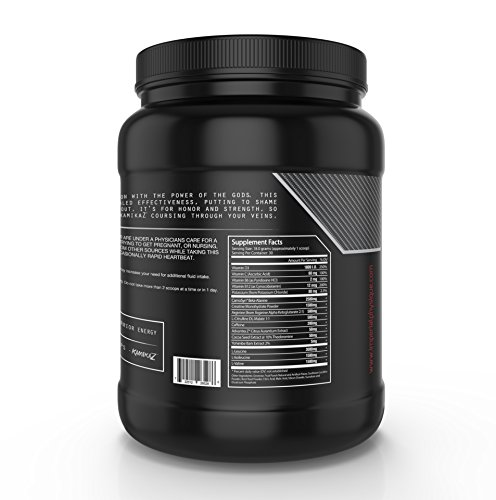 KamikaZ Amino Acid Pre-Workout Powder, Pre Workout Energy Supplement, BCAA Powder Fruit Punch, Fat Burner Powder, 30 Serving Creatine Powder with BCAAs (Fruit Punch)