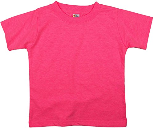 Earth Elements Little Kids'/Toddlers' Short Sleeve T-Shirt 4T Neon Pink ()