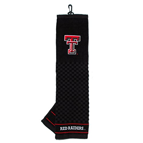 Red Raiders Embroidered Tri Fold - Texas Tech University Embroidered Golf Towel