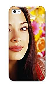 Rugged Skin Case Cover For Iphone 5c- Eco-friendly Packaging(kristin Kreuk Canadian Tv Actress)