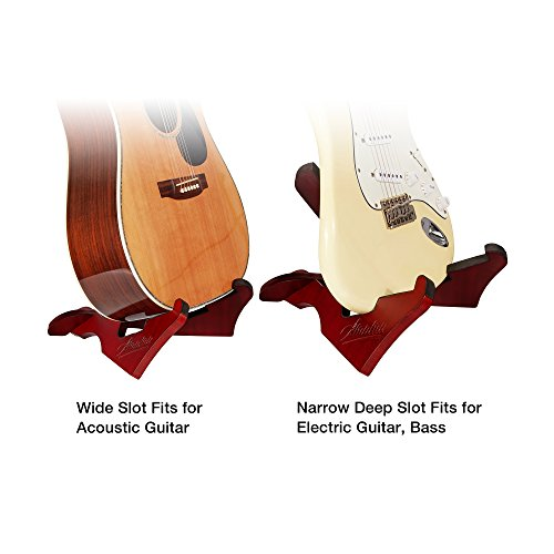 Amumu WGS-10 Wooden Guitar Stand Wood Musical Instrument Floor Portable Folding X Frame Stand for Acoustic, Classical, Electric, Bass Guitars by Amumu (Image #7)