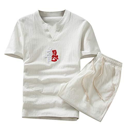 NIUQI Summer Fashion Casual Men's Cotton Printed Short