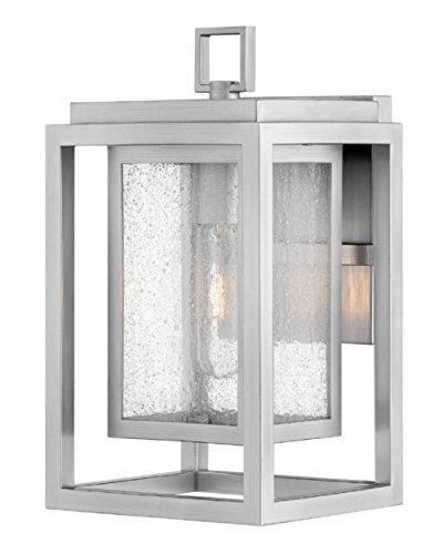 Hinkley 1000SI Republic Outdoor Wall Sconce, 1-Light, 100 Watts, Satin Nickel ()