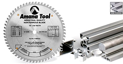 Amana Tool 510601 Thick Wall Non-Ferrous 10-Inch x 60 Tooth TCG 5/8 Bore Saw Blade