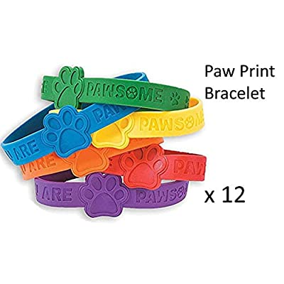Paw Patrol Party Favor Set for 12, Paw Print Notepads, Paw Print Bracelets, Paw Print Stampers: Toys & Games