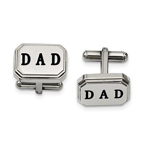 ICE CARATS Stainless Steel Dad Cufflinks Man Cuff Link Fashion Jewelry Gift for Dad Mens for Him