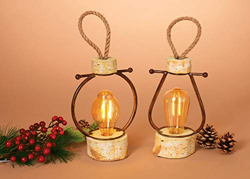 Brand Name: Gerson Christmas Theme: Resin Log with Edison Bulb Color: Brown Number in Package: 1 pk Material: Glass/Resin