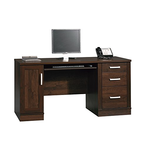 Sauder 408291 Office Port Credenza, Dark Alder