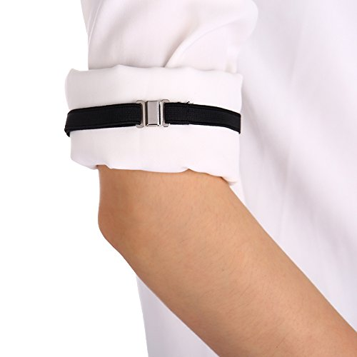 GCORE Shirt Adjustable Armband Mens Sleeve Garters Pre Tied with Adjustable Neck Strap Shirt Sleeve Holders Perfectly Garters Shirt 10 -