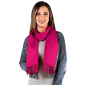 Luxury 100% Pure Baby Alpaca Wool Scarf for Men & Women – A Great Gift Idea in Many Colors