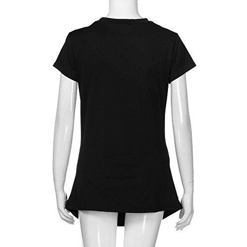 Yeefant Pregnants M T Polyester Shirt Black Nursing Tops Casual Blouse Print Womens Maternity pRwqErp
