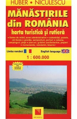 Manastirile Din Romania Harta Turistica Si Rutiera Romanian