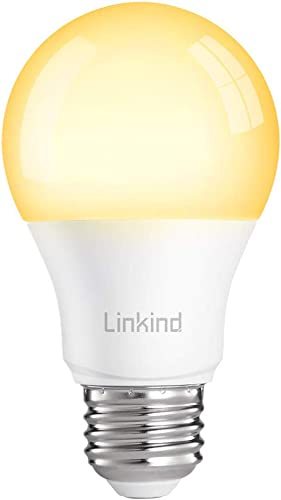 Linkind Smart Bulb, Zigbee LED Warm White A19 Bulb, 9W, Dimmable, 2700K, Warm White, 60W Equivalent, Compatible with Echo Plus Echo Show 2nd Gen HUE Bridge SmartThings Hub TRADFRI Gateway, Pack of 1