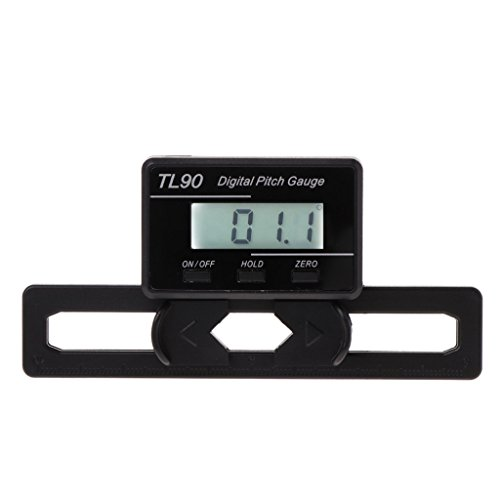 - BYNNIX TL90 Digital Pitch Gauge LCD Backlight Display Blades Angle Measurement Tool