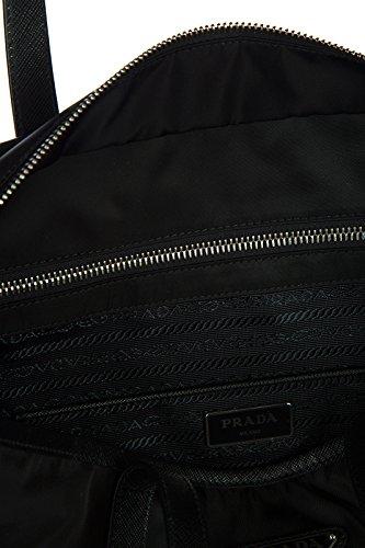 Prada Schultertasche Nylon Damen Tasche Umhängetasche Bag vela Schwarz