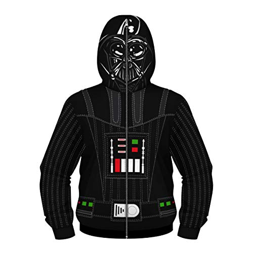 Kids Star Wars Hooded Fleece Boys Darth Vade Baseball Jacket with Zipper Cover Anakin Skywalker -