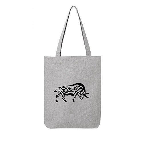 Tote tribal bag toile en teaurau recycle gris wrxwZ4Pn