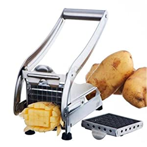 New Stainless Steel French Fry Cutter Potato Vegetable Slicer Chopper Dicer 2 Blades