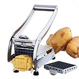 kitchen appliance black friday uk New Stainless Steel French Fry Cutter Potato Vegetable Slicer Chopper Dicer 2 Blades
