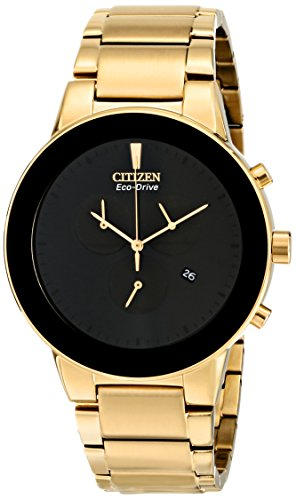 Citizen Men's AT2242-55E Axiom Eco-Drive Gold-Tone Bracelet Watch (Watch 55e)