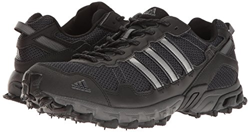 adidas Men's Rockadia Trail M Running Shoe, Black/Black/Dark Grey Heather, 10.5 M US