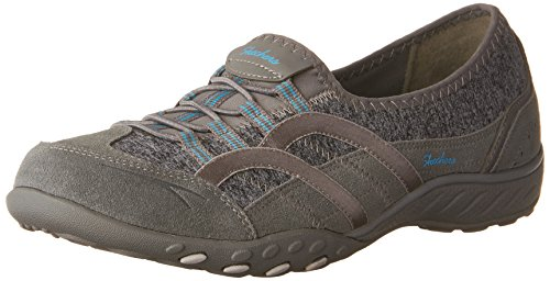 9 Womens Easy Sneakers Relaxed Fit Slip Skechers On Grigio Respira Mantra aXvxqf