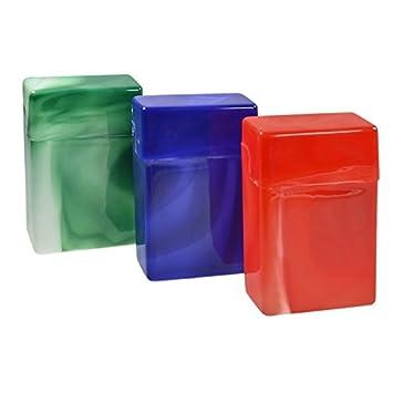 12 x Cigarrillos Cajas sin puente (mármol Varios Colores - Plástico: Amazon.es: Hogar