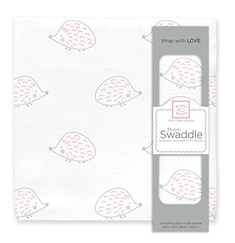 SwaddleDesigns Cotton Swaddle Blanket Hedgehog