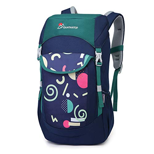 Mountaintop Kids Backpack Toddler Backpack for School Small Hiking Backpack for Boys and Girls]()