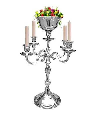 Amazon 5 Arm Silver Candelabra With Flower Vase Holders Taper