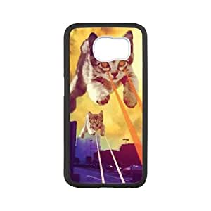 Lycase(TM) Cat With Lasers DIY Cover Case, Cat With Lasers SamSung Galaxy S6 Hard Back Case