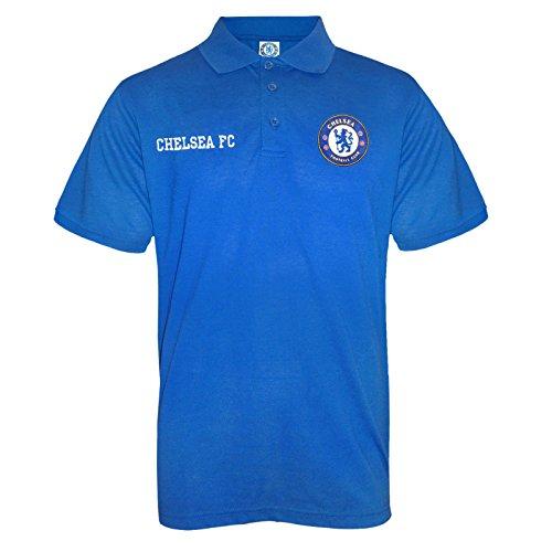 Chelsea FC Official Soccer Gift Mens Crest Polo Shirt Royal Blue (Chelsea Soccer Shirt)