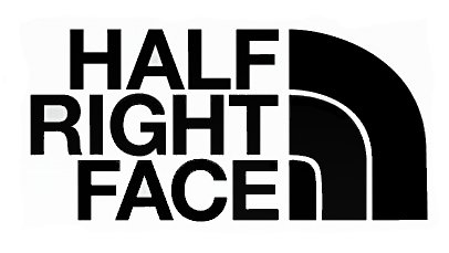 Half Right Face Military PREMIUM Decal Vinyl Sticker|Cars Trucks Vans Walls Laptop| Black |7.5 x 3.75 - Your Sunglasses Right Face For The