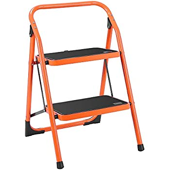 Amazon Com Luisladders 2 Step Ladder Folding Stool Sturdy