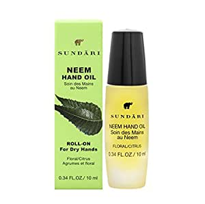 SUNDARI Neem Hand Oil ~ For Soft/Silky Hands ~ 100% All Natural ~ To-Go Rollerball ~ Absorbs quickly ~ Works great on cuticles too ~ Soothing Scent ~ Feel the difference in the first use!