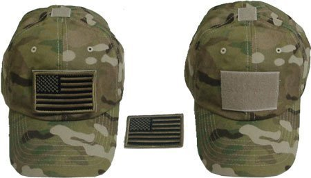 Generic Special Force Tactical CAP HAT w US Flag Patch - Import It All 9dbcff547a6