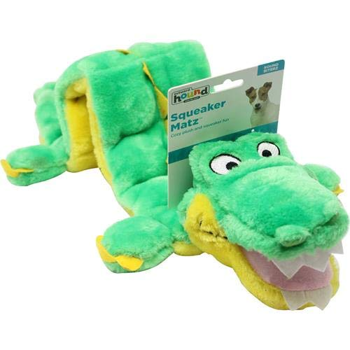 Kyjen Plush Puppies Alligator Squeaker Dog Toy (16 Squeakers) ()