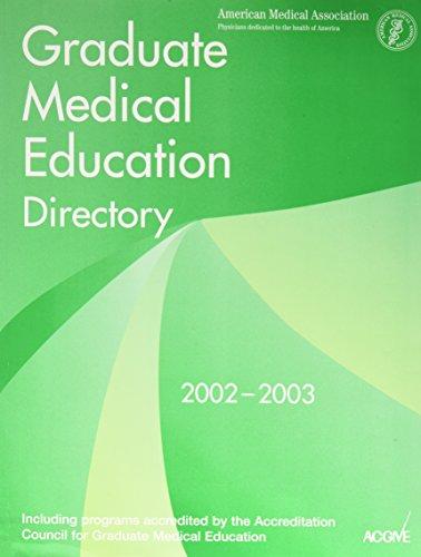 Graduate Medical Education Directory, 2002-2003