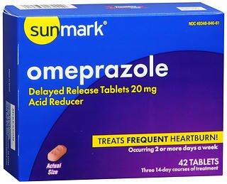Sunmark Omeprazole Tablets - 42 ct, Pack of 6